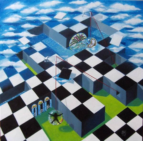 Surrealism Art Print featuring the painting Laberintos De La Vida by Roger Calle