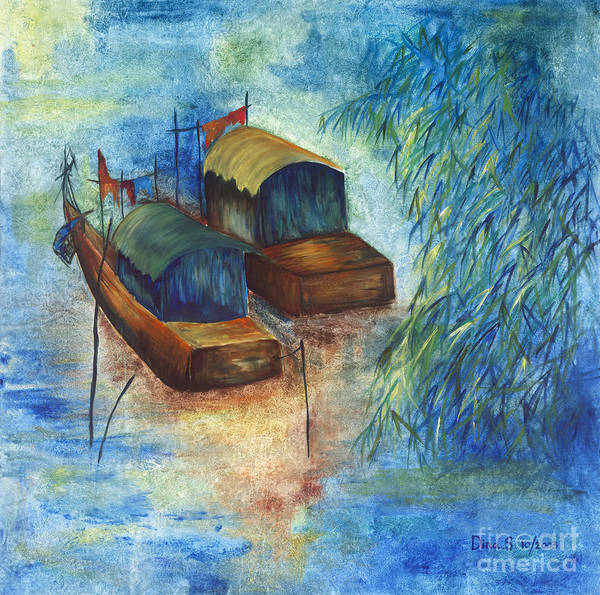 Landscape Art Print featuring the painting Memories From China by Dina Soker