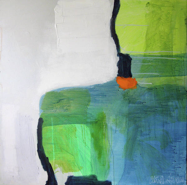 Abstract Art Print featuring the painting One Day I Was Dreaming by Claire Desjardins