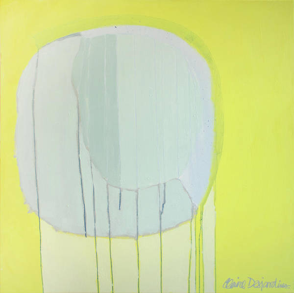 Abstract Art Print featuring the painting Quien Esta? by Claire Desjardins