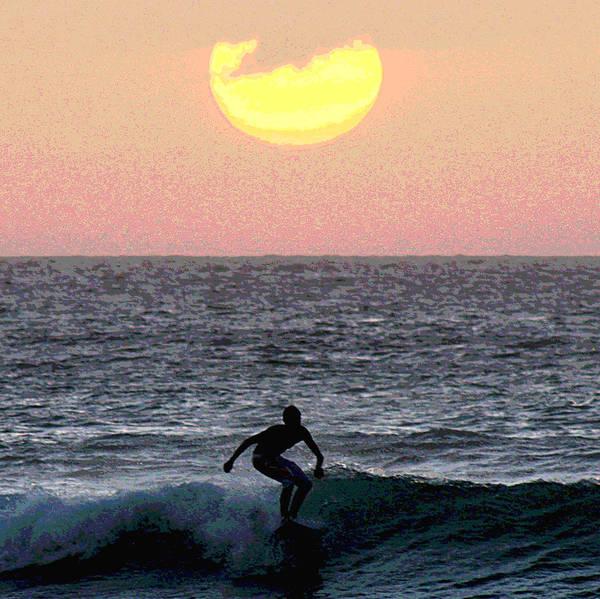 Sunset Art Print featuring the photograph Sunset Ride by Richard Gerken