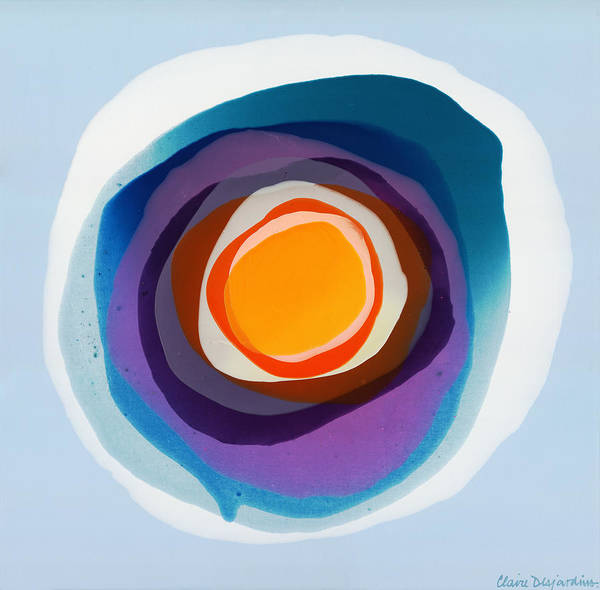 Abstract Art Print featuring the painting Focussed by Claire Desjardins