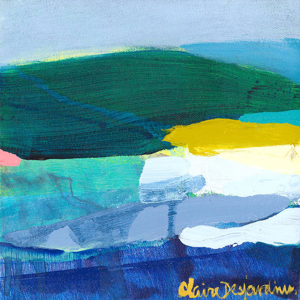 Abstract Art Print featuring the painting When Winter Melts Away by Claire Desjardins