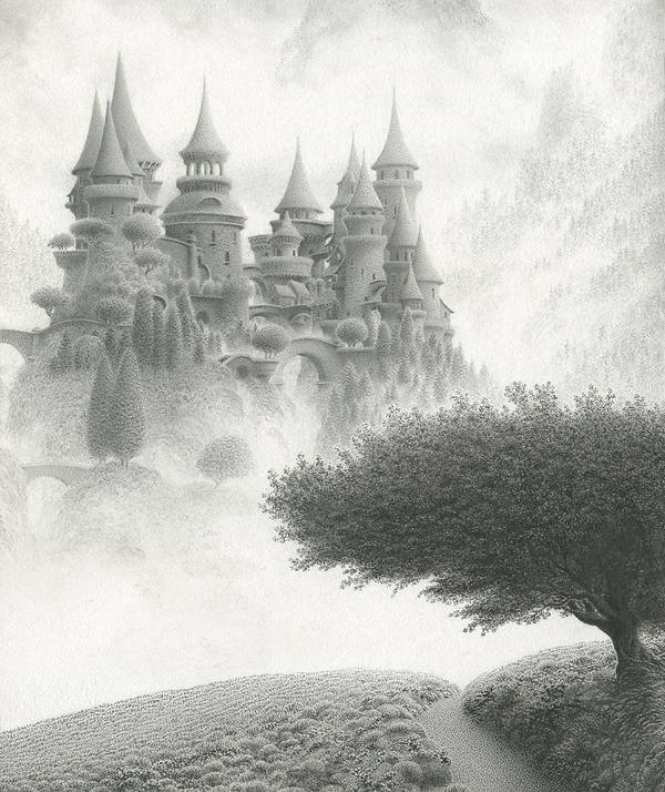Mark Reep Art Print featuring the drawing Once Upon A Time by Mark Reep