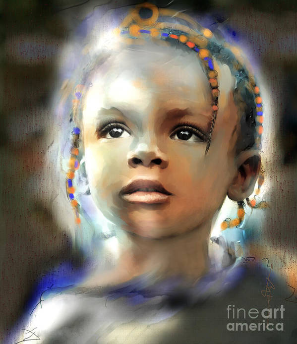 Portraits Art Print featuring the painting Shine On Me by Bob Salo