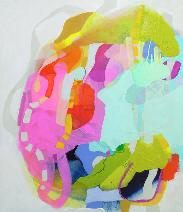 Abstract Art Print featuring the painting I'm So Glad by Claire Desjardins