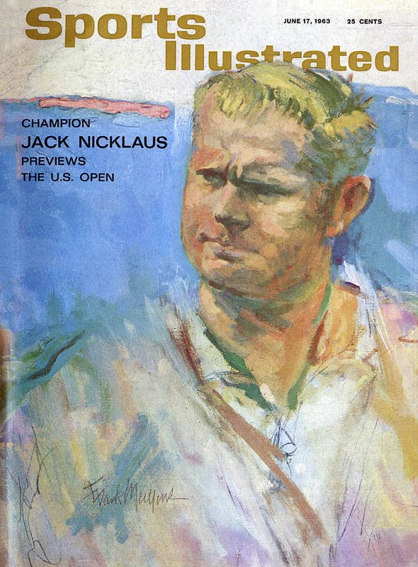 Magazine Cover Art Print featuring the photograph Champion Jack Nicklaus Previews The U.s. Open Sports Illustrated Cover by Sports Illustrated