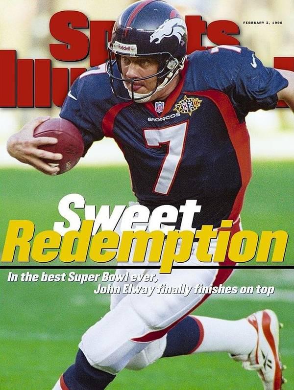 California Art Print featuring the photograph Denver Broncos Qb John Elway, Super Bowl Xxxii Sports Illustrated Cover by Sports Illustrated