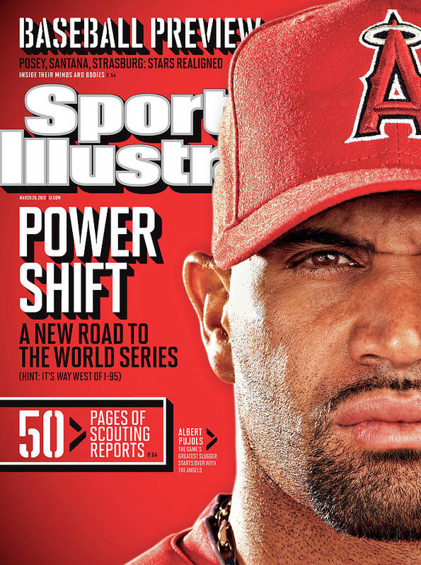 Magazine Cover Art Print featuring the photograph Los Angeles Angels Of Anaheim Albert Pujols, 2012 Mlb Sports Illustrated Cover by Sports Illustrated