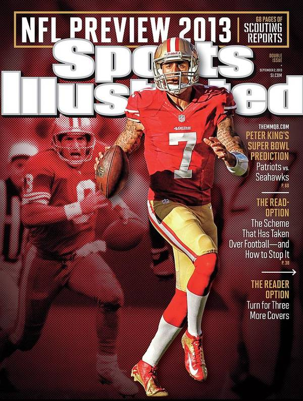 Candlestick Park Art Print featuring the photograph The New Kings 2013 Nfl Football Preview Issue Sports Illustrated Cover by Sports Illustrated