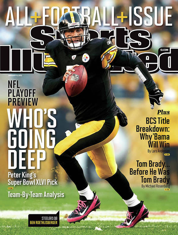 Magazine Cover Art Print featuring the photograph Whos Going Deep 2012 Nfl Playoff Preview Issue Sports Illustrated Cover by Sports Illustrated