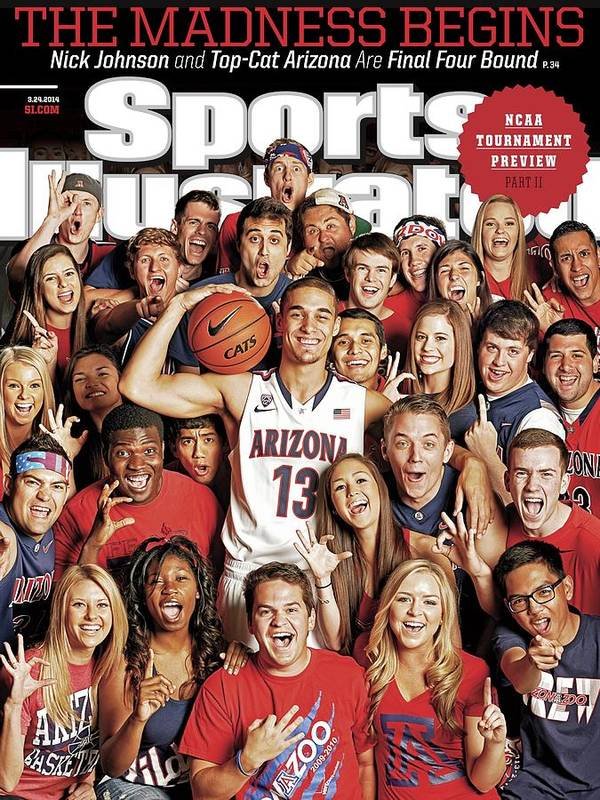 University Of Arizona Art Print featuring the photograph 2014 March Madness College Basketball Preview Part II Sports Illustrated Cover by Sports Illustrated