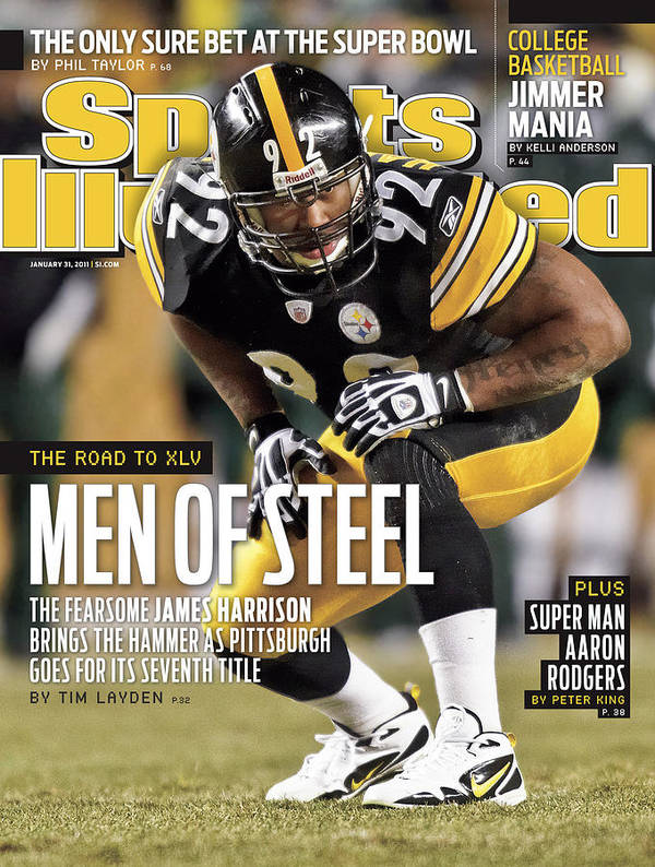 Magazine Cover Art Print featuring the photograph 2011 Afc Championship New York Jets V Pittsburgh Steelers Sports Illustrated Cover by Sports Illustrated