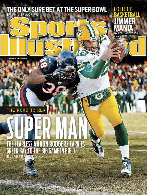 Magazine Cover Art Print featuring the photograph 2011 Nfc Championship Green Bay Packers V Chicago Bears Sports Illustrated Cover by Sports Illustrated