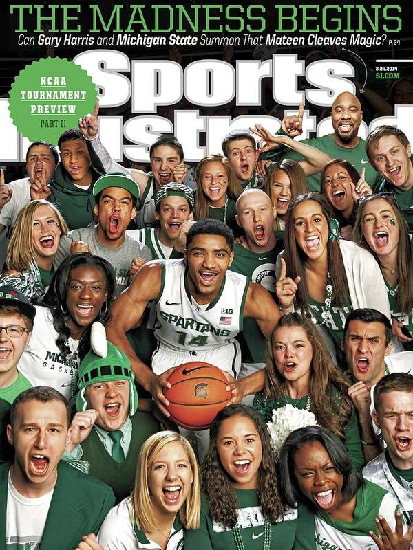 Michigan State University Art Print featuring the photograph 2014 March Madness College Basketball Preview Part II Sports Illustrated Cover by Sports Illustrated