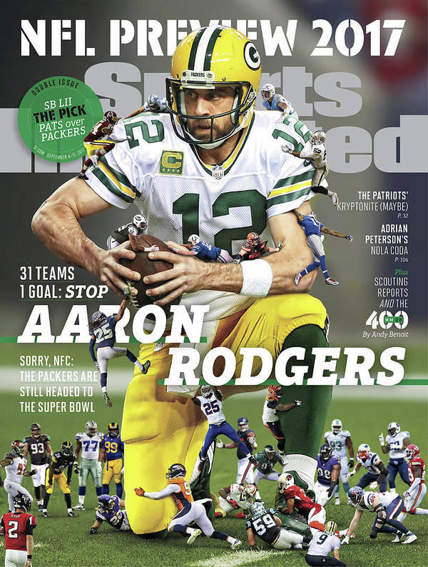 Season Art Print featuring the photograph 31 Teams, 1 Goal Stop Aaron Rodgers, 2017 Nfl Football Sports Illustrated Cover by Sports Illustrated