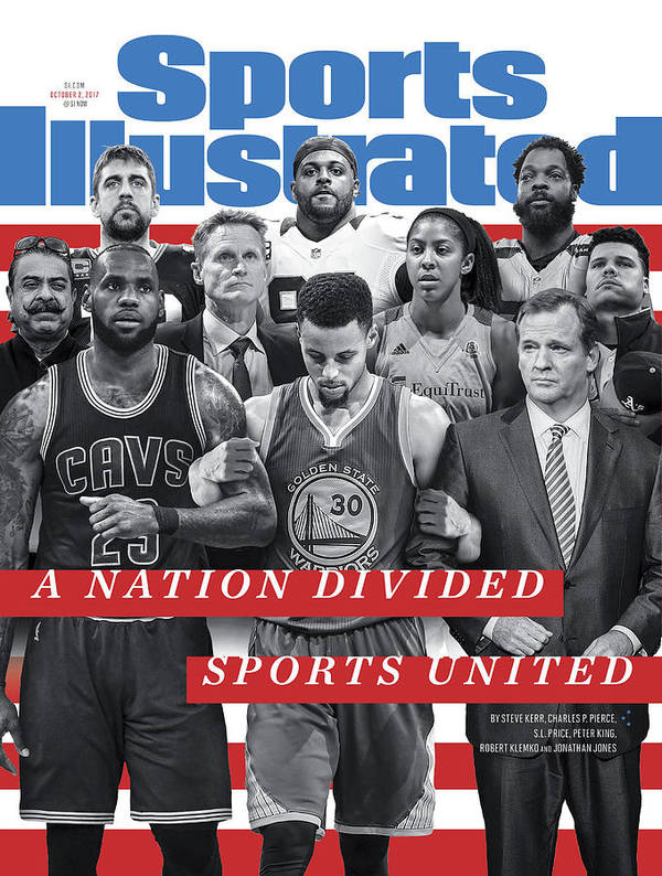 Magazine Cover Art Print featuring the photograph A Nation Divided, Sports United Sports Illustrated Cover by Sports Illustrated