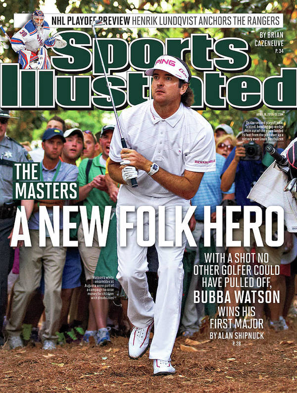 Magazine Cover Art Print featuring the photograph A New Folk Hero Bubba Watson Wins The Masters Sports Illustrated Cover by Sports Illustrated