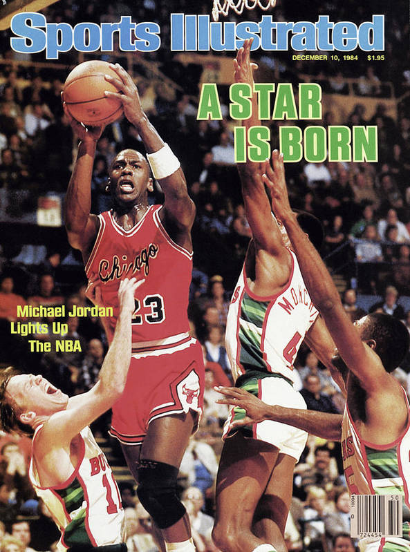 Chicago Bulls Art Print featuring the photograph A Star Is Born Michael Jordan Lights Up The Nba Sports Illustrated Cover by Sports Illustrated