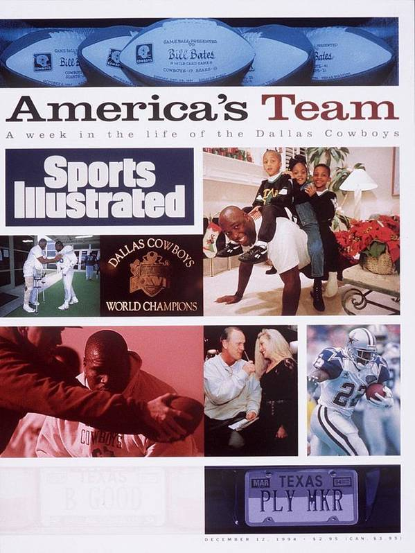 Magazine Cover Art Print featuring the photograph A Week In The Life Of The Dallas Cowboys Sports Illustrated Cover by Sports Illustrated