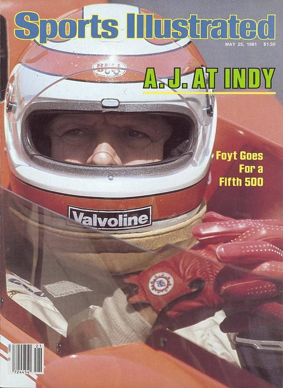 1980-1989 Art Print featuring the photograph A.j. Foyt, 1981 Indy 500 Qualifying Sports Illustrated Cover by Sports Illustrated