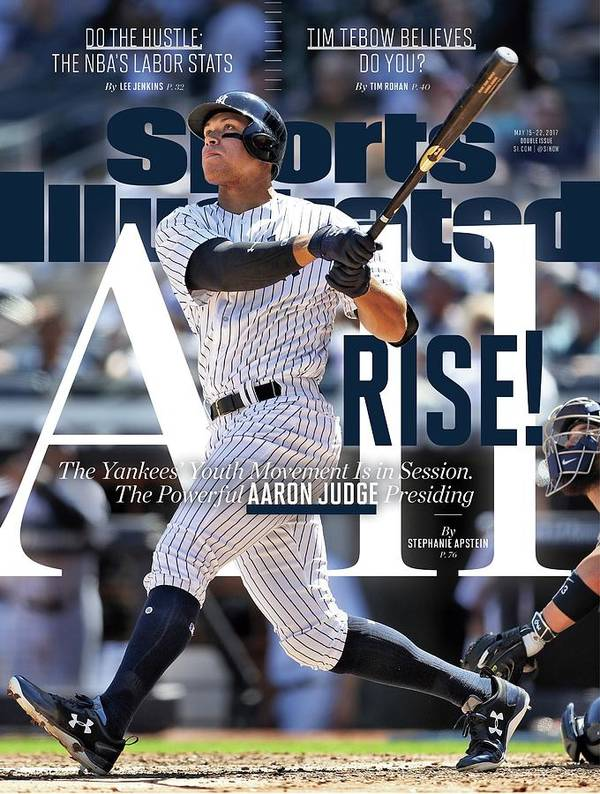 Magazine Cover Art Print featuring the photograph All Rise The Yankees Youth Movement Is In Session. The Sports Illustrated Cover by Sports Illustrated