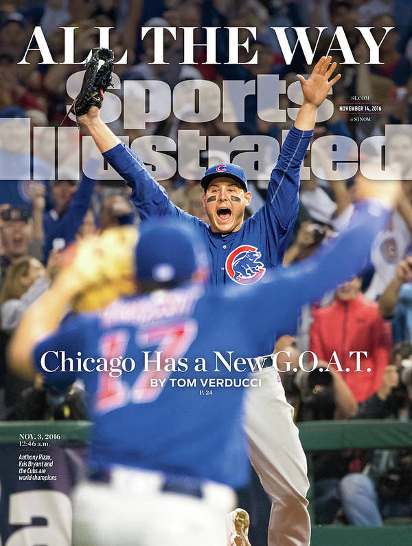 Magazine Cover Art Print featuring the photograph All The Way Chicago Has A New G.o.a.t. Sports Illustrated Cover by Sports Illustrated