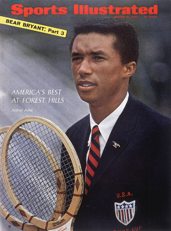 Magazine Cover Art Print featuring the photograph Arthur Ashe, Tennis Sports Illustrated Cover by Sports Illustrated