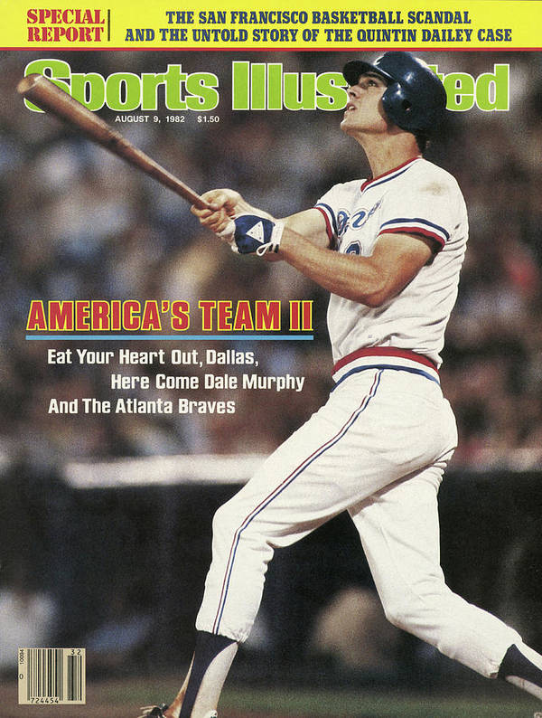 Atlanta Art Print featuring the photograph Atlanta Braves Dale Murphy... Sports Illustrated Cover by Sports Illustrated