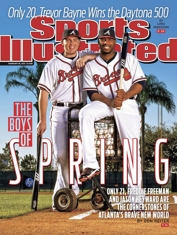Magazine Cover Art Print featuring the photograph Atlanta Braves Freddie Freeman And Jason Heyward Sports Illustrated Cover by Sports Illustrated