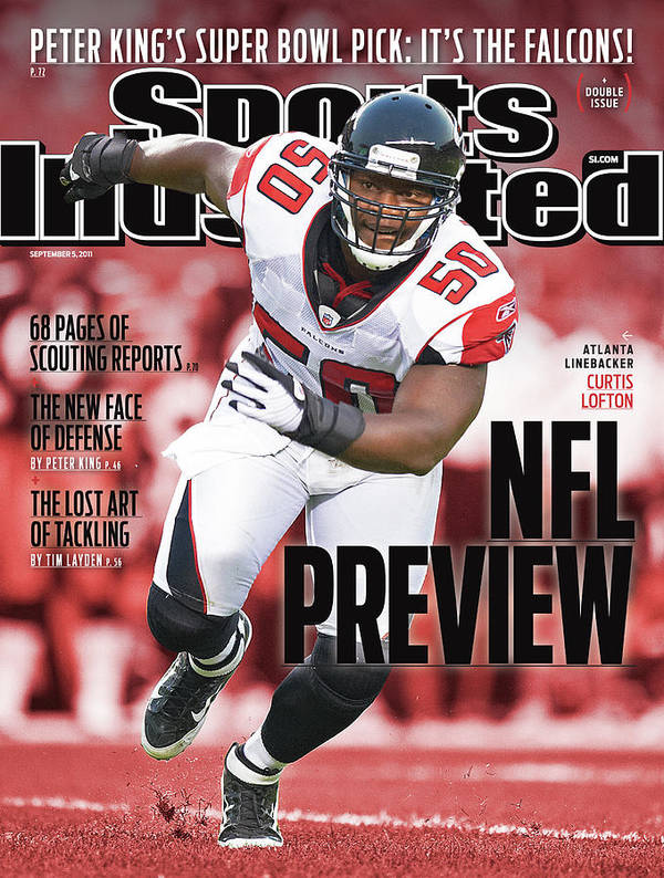 Atlanta Art Print featuring the photograph Atlanta Falcons Curtis Lofton, 2011 Nfl Football Preview Sports Illustrated Cover by Sports Illustrated