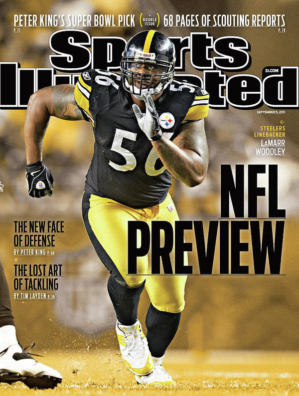Magazine Cover Art Print featuring the photograph Atlanta Falcons V Pittsburgh Steelers Sports Illustrated Cover by Sports Illustrated