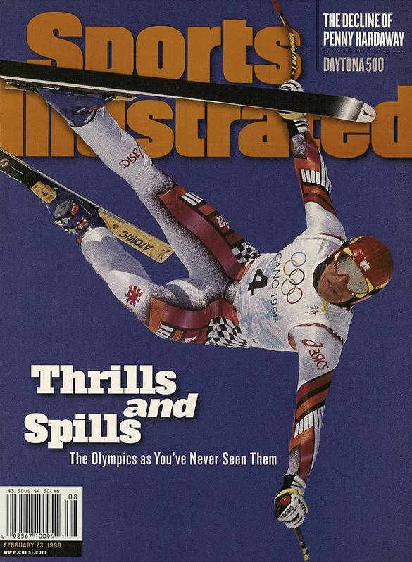 Skiing Art Print featuring the photograph Austria Herman Maier, 1998 Winter Olympics Sports Illustrated Cover by Sports Illustrated