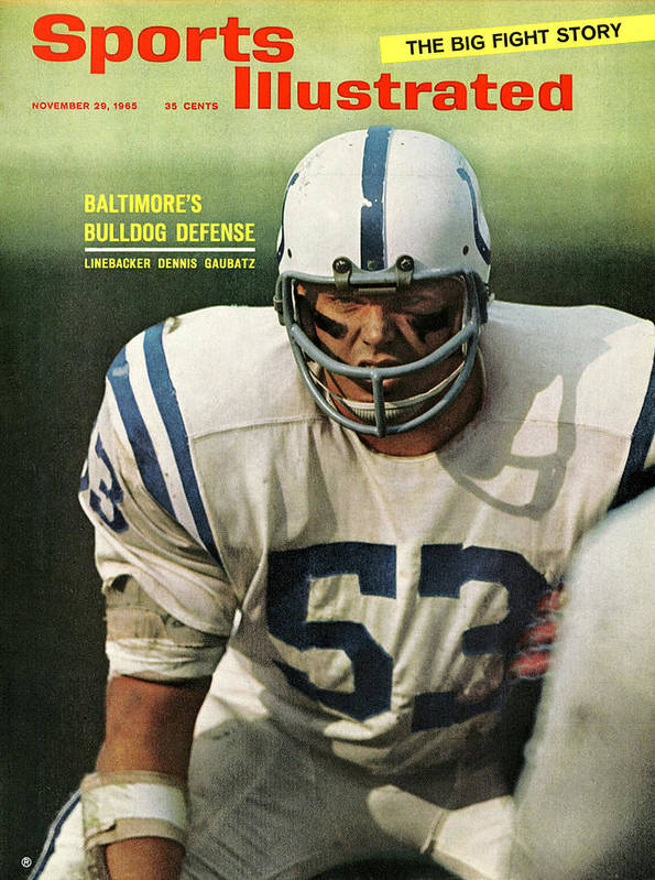 Magazine Cover Art Print featuring the photograph Baltimore Colts Dennis Gaubatz Sports Illustrated Cover by Sports Illustrated