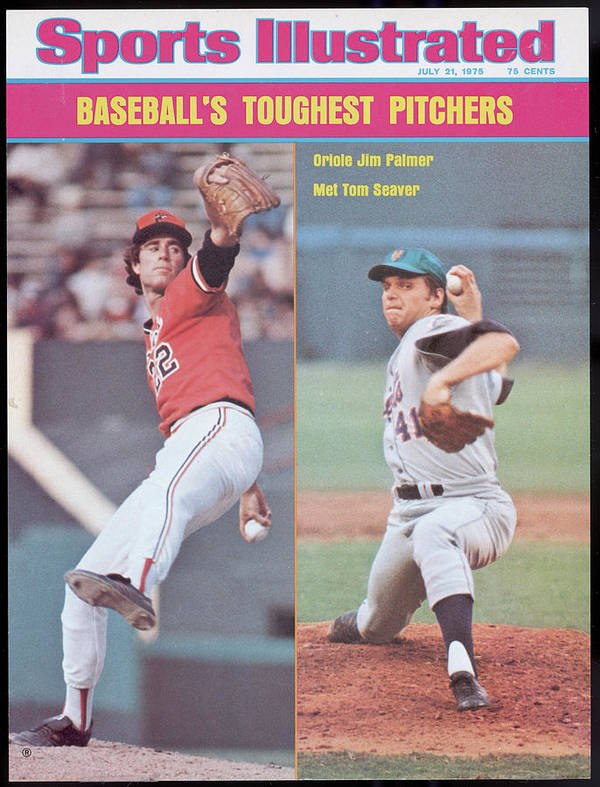 Tom Seaver Art Print featuring the photograph Baltimore Orioles Jim Palmer And New York Mets Tom Seaver Sports Illustrated Cover by Sports Illustrated