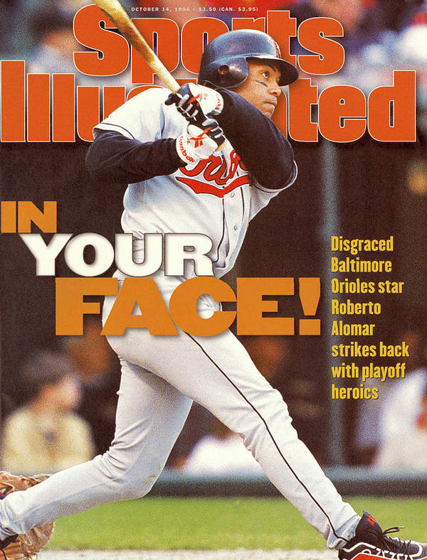 Magazine Cover Art Print featuring the photograph Baltimore Orioles Roberto Alomar, 1996 American League Sports Illustrated Cover by Sports Illustrated