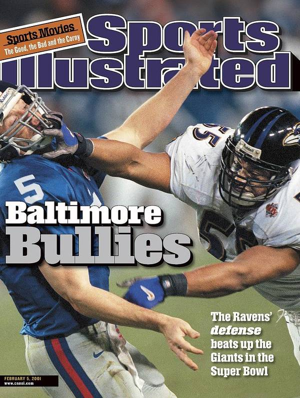 Tampa Art Print featuring the photograph Baltimore Ravens Jamie Sharper, Super Bowl Xxxv Sports Illustrated Cover by Sports Illustrated