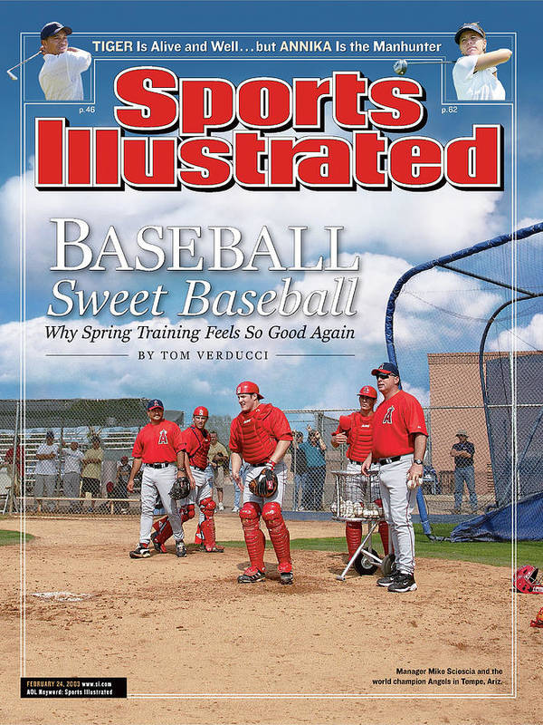 Jeff Mathis Art Print featuring the photograph Baseball Sweet Baseball Why Spring Training Feels So Good Sports Illustrated Cover by Sports Illustrated