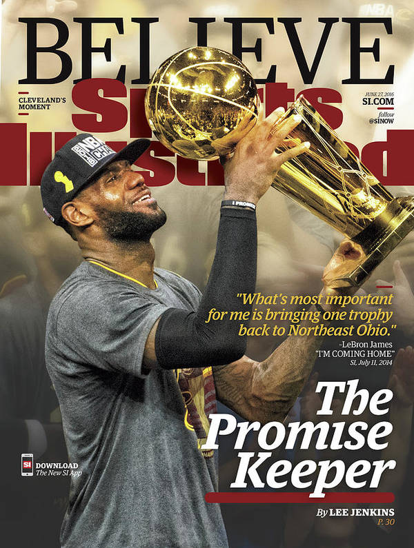 Magazine Cover Art Print featuring the photograph Believe The Promise Keeper Sports Illustrated Cover by Sports Illustrated