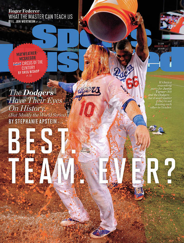 Magazine Cover Art Print featuring the photograph Best. Team. Ever The Dodgers Have Their Eyes On History Sports Illustrated Cover by Sports Illustrated