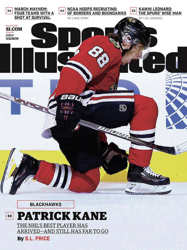 Magazine Cover Art Print featuring the photograph Blackhawks Patrick Kane The Nehls Best Player Has Arrived - Sports Illustrated Cover by Sports Illustrated