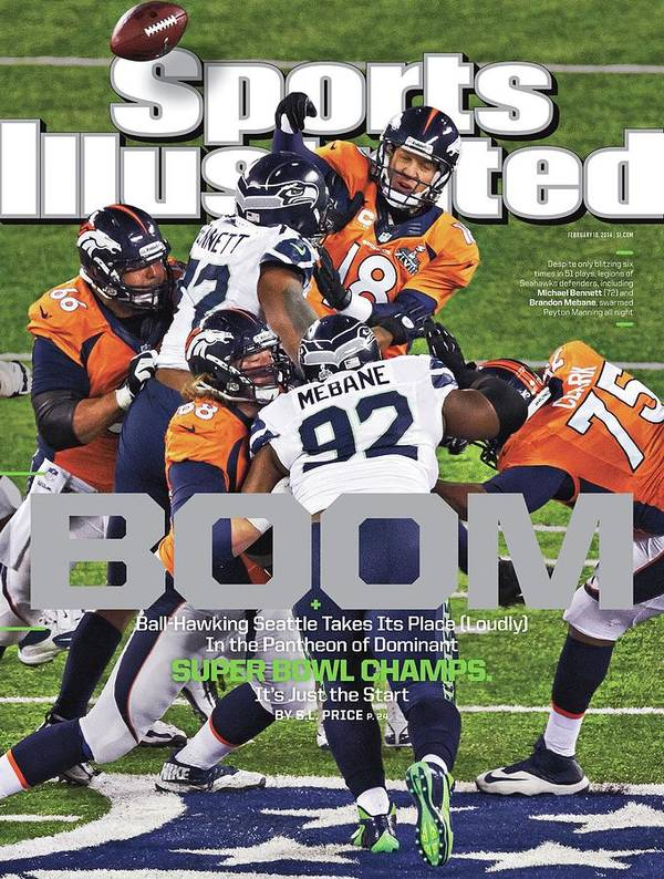 Magazine Cover Art Print featuring the photograph Boom Ball-hawking Seattle Takes Its Place Loudly In The Sports Illustrated Cover by Sports Illustrated