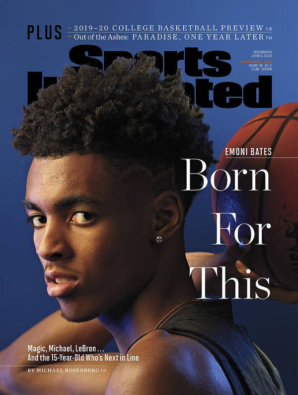 Magazine Cover Art Print featuring the photograph Born For This Emoni Bates Sports Illustrated Cover by Sports Illustrated