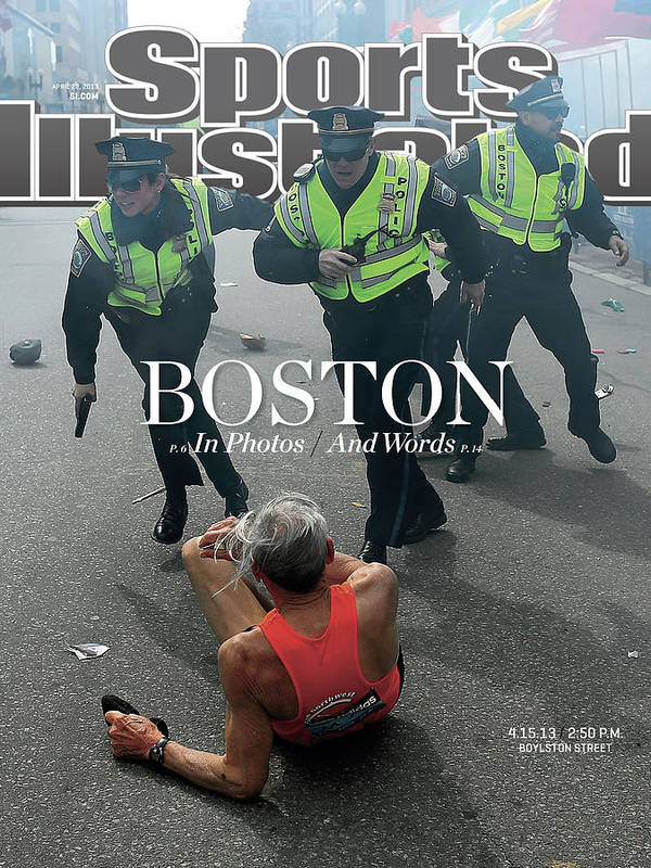 Magazine Cover Art Print featuring the photograph Boston Bombing Sports Illustrated Cover by Sports Illustrated