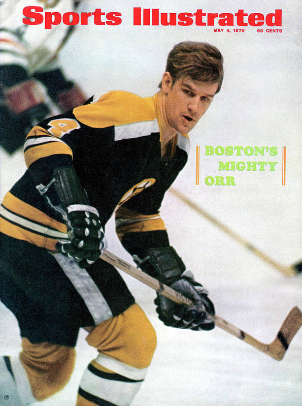 Playoffs Art Print featuring the photograph Boston Bruins Bobby Orr, 1970 Nhl Eastern Division Sports Illustrated Cover by Sports Illustrated