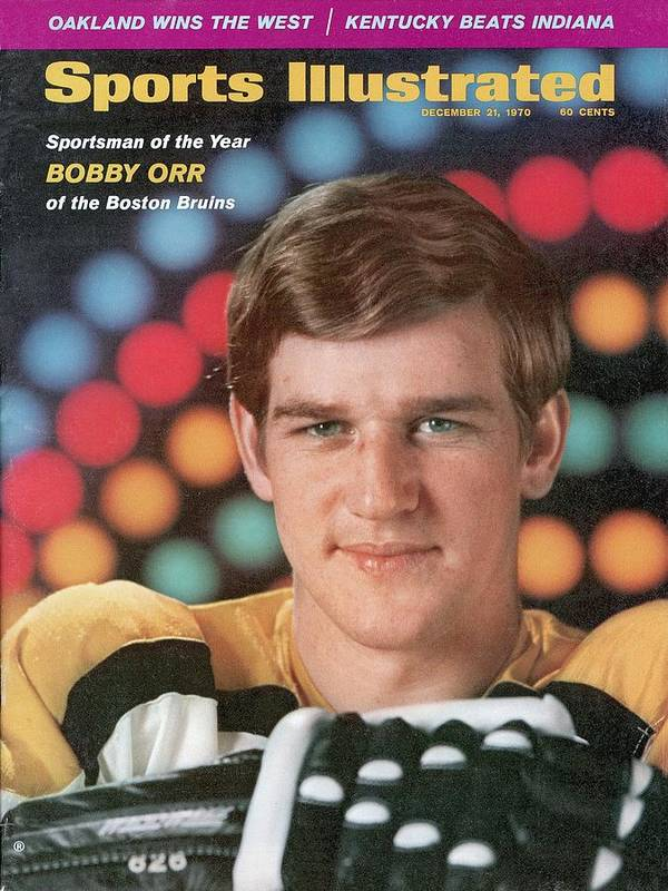Magazine Cover Art Print featuring the photograph Boston Bruins Bobby Orr, 1970 Sportsman Of The Year Sports Illustrated Cover by Sports Illustrated