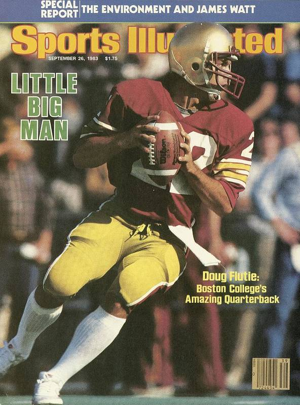 1980-1989 Art Print featuring the photograph Boston College Qb Doug Flutie... Sports Illustrated Cover by Sports Illustrated