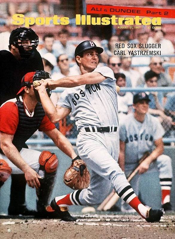Magazine Cover Art Print featuring the photograph Boston Red Sox Carl Yastrzemski... Sports Illustrated Cover by Sports Illustrated