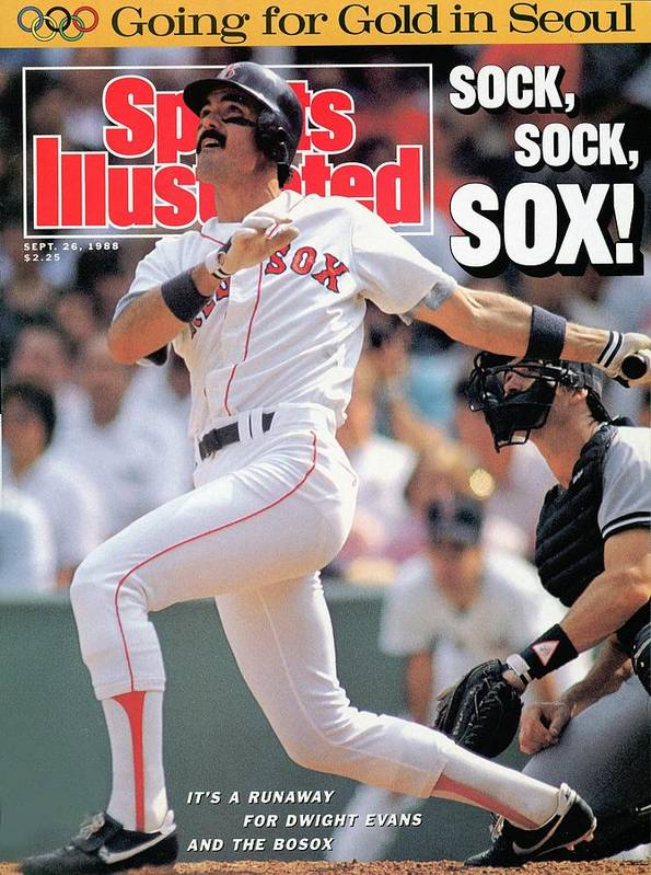 Magazine Cover Art Print featuring the photograph Boston Red Sox Dwight Evans... Sports Illustrated Cover by Sports Illustrated