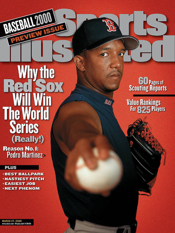 Magazine Cover Art Print featuring the photograph Boston Red Sox Pedro Martinez, 2000 Mlb Baseball Preview Sports Illustrated Cover by Sports Illustrated